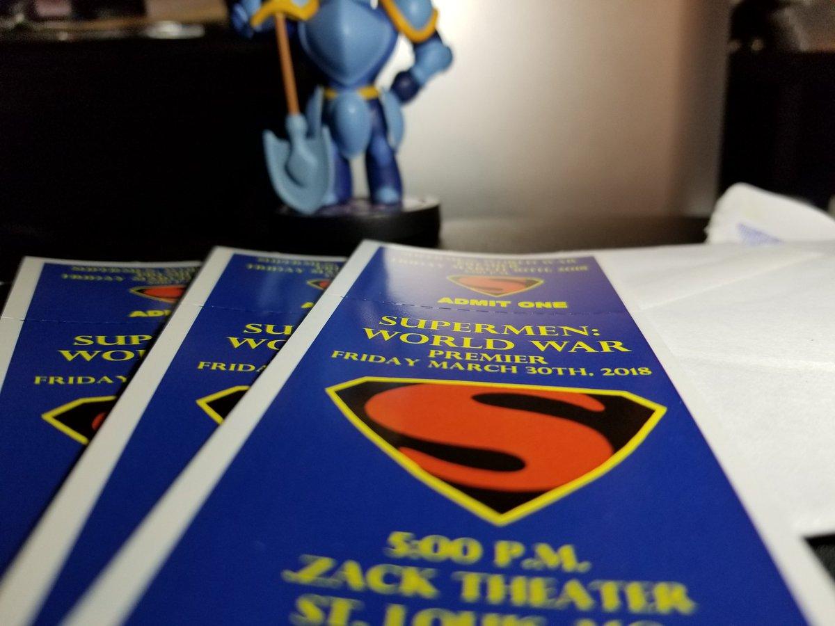 #365dayphotochallenge I am super excited for this premiere!! 😊😄😁 @DonaldCallahan1  #SuperMan #SuperMen #SuperMenWorldWar #StLouis #Film #Filmmaking #STLFilm #DJCFilmz #premiere #filmpremiere #ZackTheater #zacktheatre #Excited