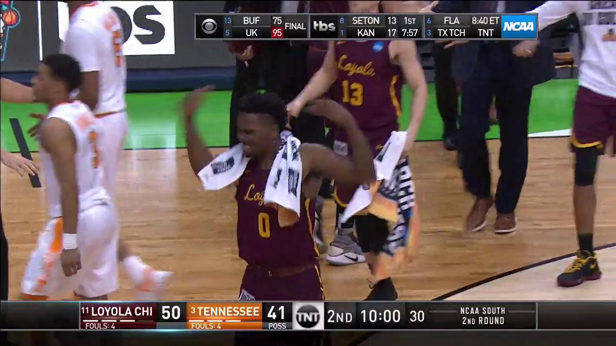LOYOLA-CHICAGO UP 9️⃣ ON TENNESSEE.   Ra...