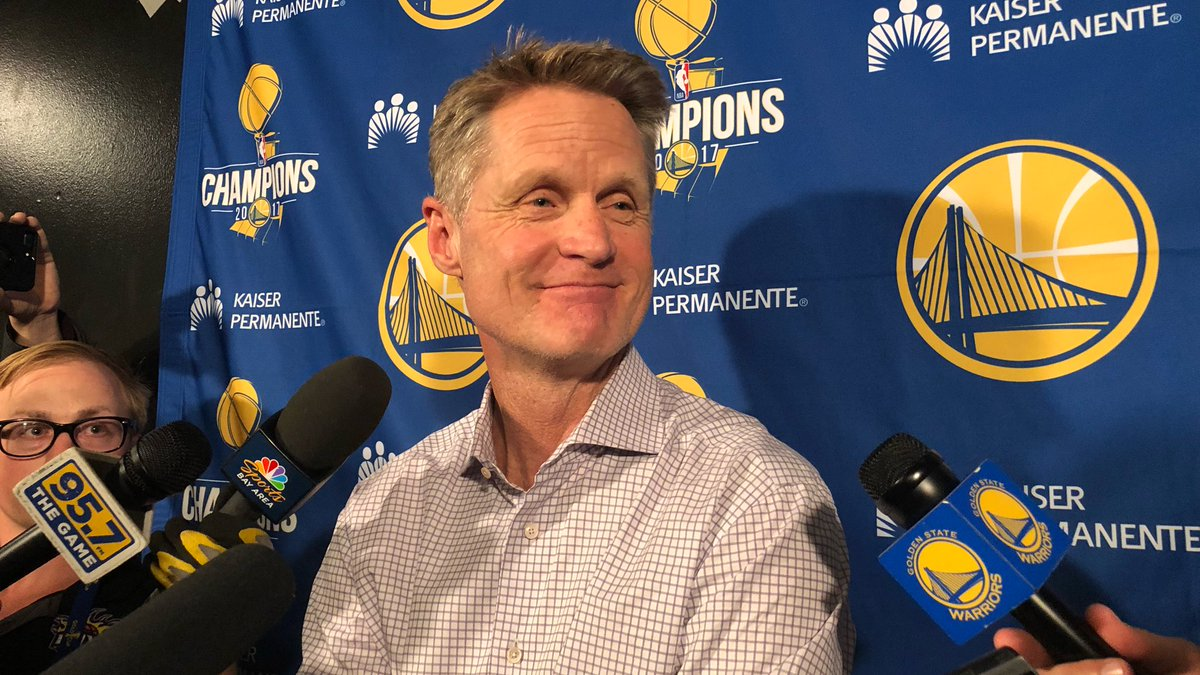 """""""He's proven that he can compete at this level, and the last couple of games you've seen what he can do."""" - @SteveKerr on @QCook323 #DubNation"""