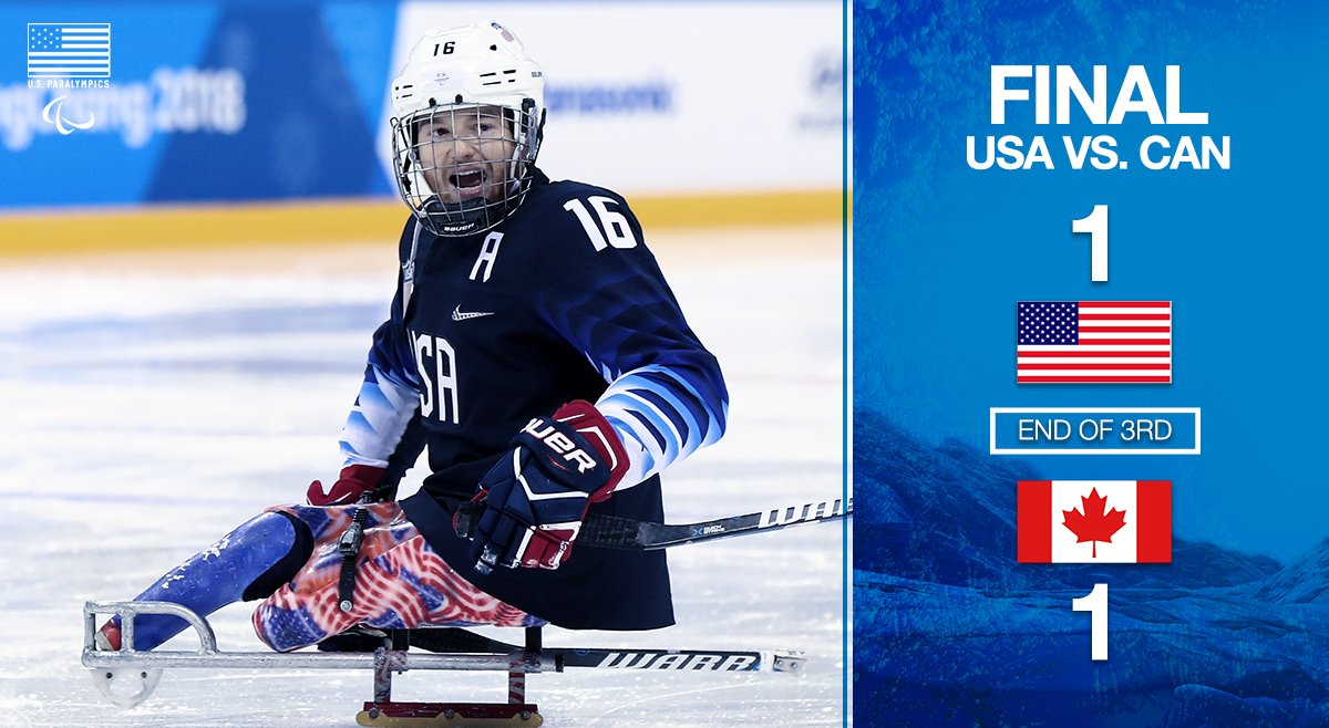 Free hockey! #USA and #CAN are heading into OT in the gold medal game at the #WinterParalympics!