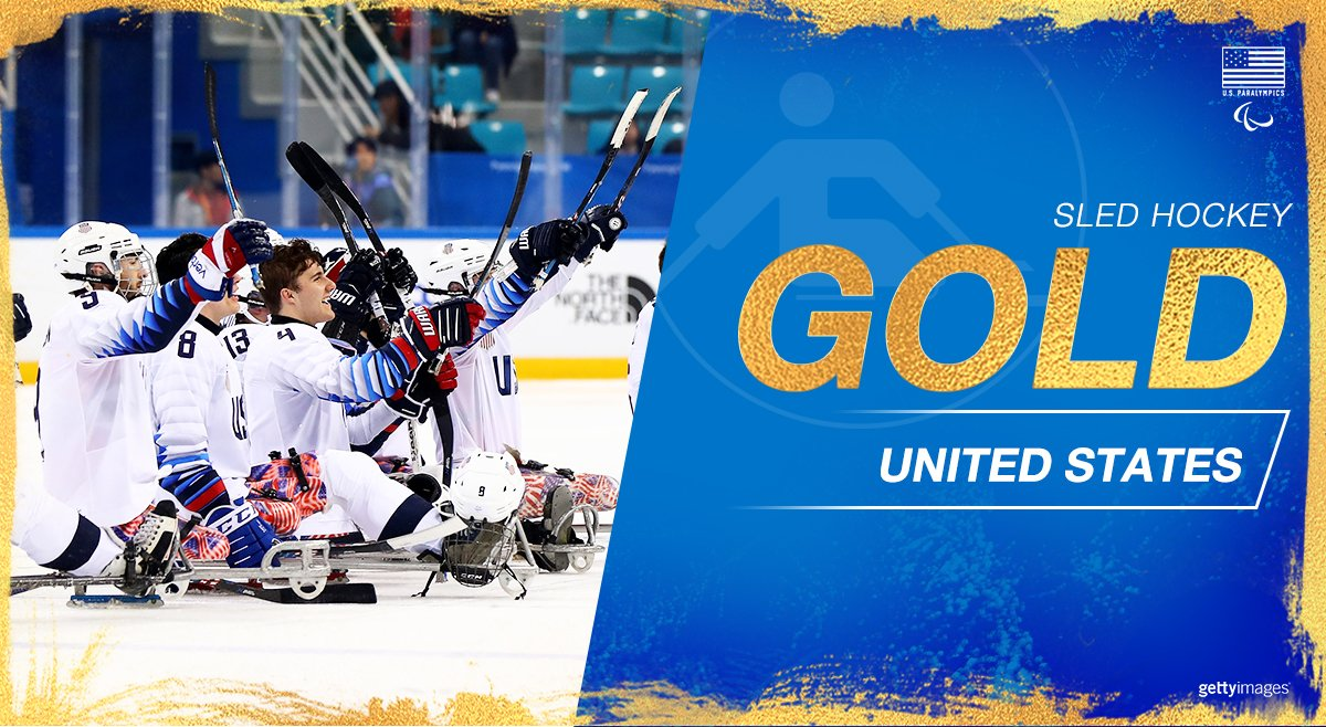 🥇🥇🥇 #TeamUSA makes it a three-peat in #sledhockey after an incredible OT win over #CAN!