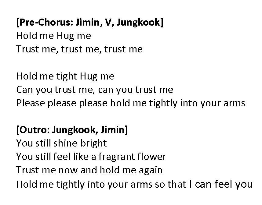 "doolset 🧅 on Twitter: ""잡아줘 (Hold Me Tight) - @BTS_twt Lyrics Translation ( ENG)… """