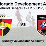 Come out to RCSC and watch our 15, 17 and 19 boys DA take on Lonestar. U17's kickoff at 10:00 am followed by the U15 and U19's at 12:30 pm. #ThisIsReal