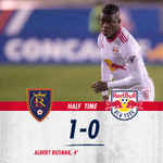 Halftime, pres. by @lyft: RSL leads 1-0.  Lyft is now the official rideshare partner of the New York Red Bulls  They're giving new users $15 in free ride credit with code *RB2018*   Redeem: https://t.co/wC7SXDhb7Y  #RSLvRBNY | #RBNY