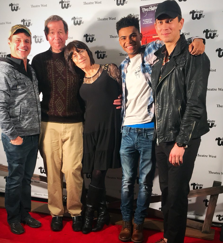 CONGRATULATIONS!! The opening of THE NIGHT FORLORN with author #SteveNevil and his lovely wife #YR casting director #SheilaGuthrie with @NoahAGerry @JRyanAshton @YRInsider @CBSDaytime #YR @YandR_CBS @YRMattK @TheatreWest