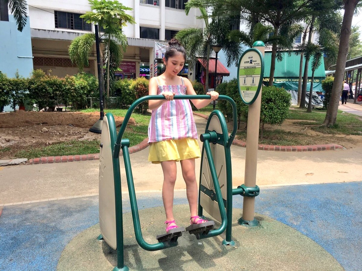 公園で遊ぶ与田祐希