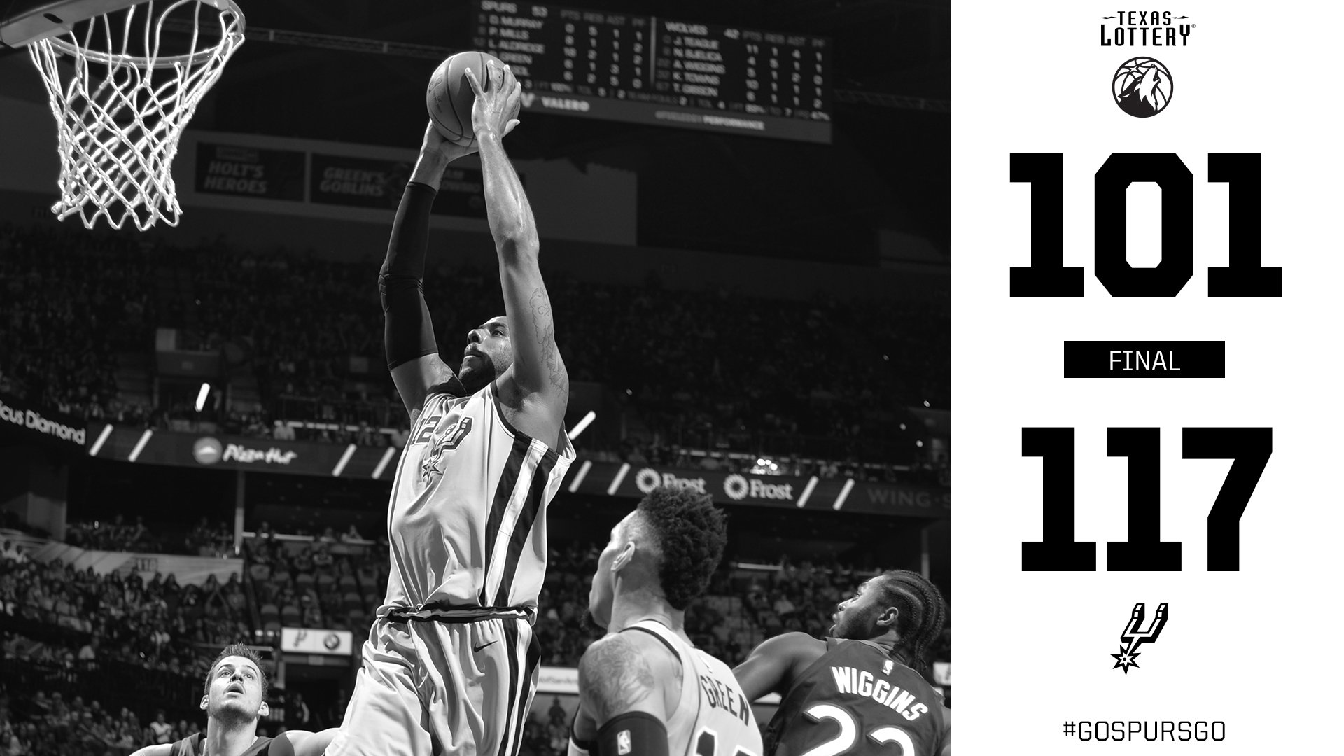Another win inside the AT&T Center #GoSpursGo https://t.co/PcSNziZeiX