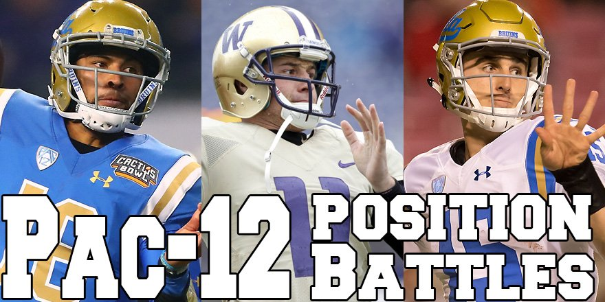 POSITION BATTLES: PAC-12 4 or the top 5 #Pac12 position battles are at QB. @rivalsmike breaks them all down: https://t.co/3PohX1jupm  MORE: #ACC: https://t.co/3guKJQn8my #B1G: https://t.co/IMGm1RiTMX #Big12: https://t.co/0LPizJ1N5m #SEC: https://t.co/SUAF8zDAcI