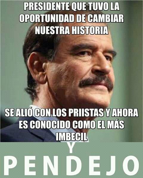 Vicente Fox Quesada On Twitter Ricardo Que Verguenza Ser Tan Oportunista Solo Porque No La Pudiste Ganar Dentro Y Por Despecho Te Vas Con La Morena Lopitos Sigues Acumulando Deshechos Que Vienen