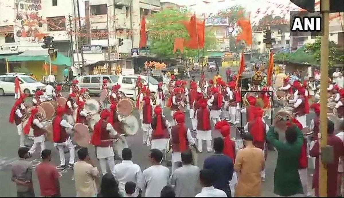 #GudiPadwa being celebrated in #Maharashtra today. Visuals from Nagpur.