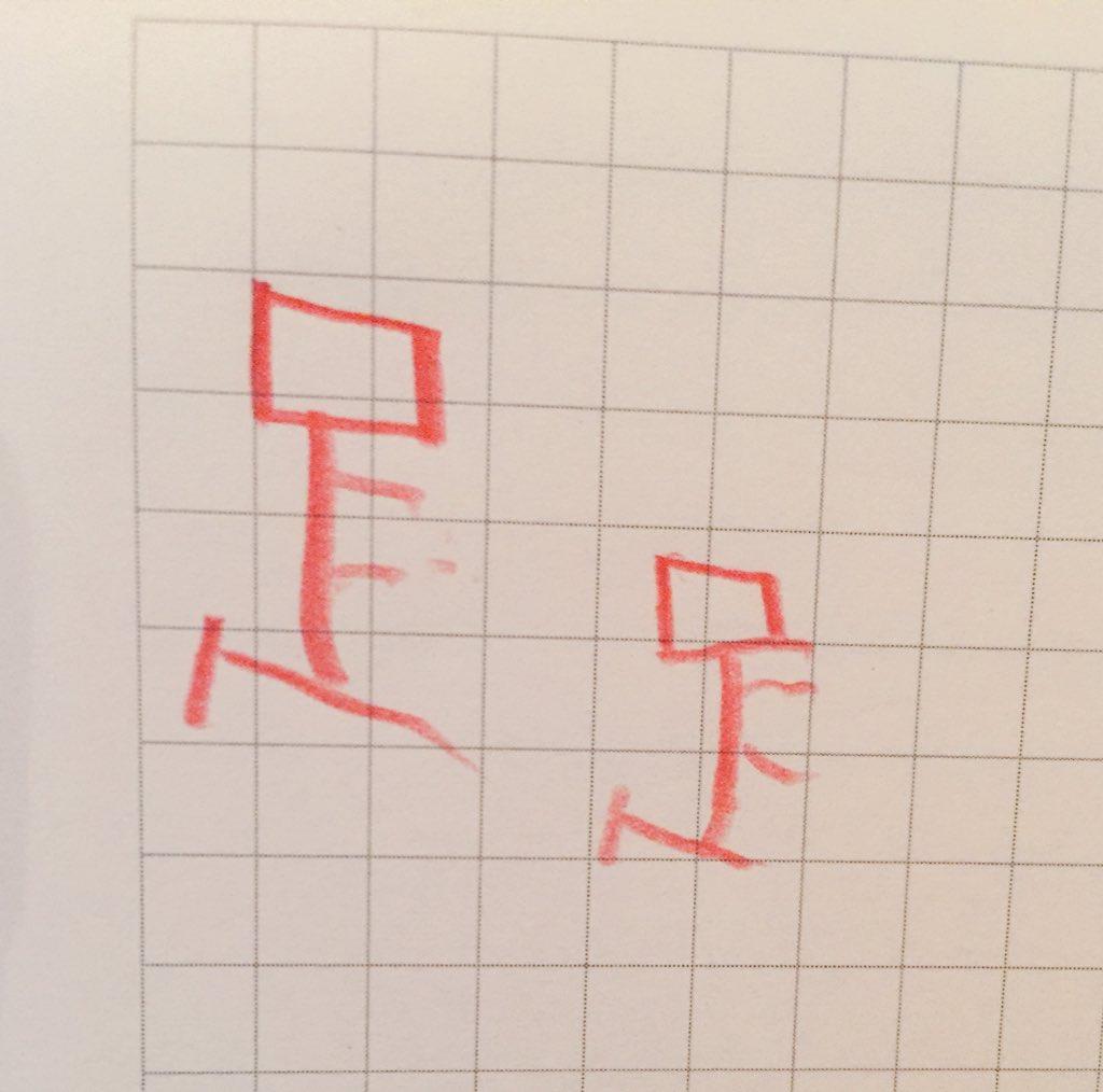 メモ帳の片隅に5歳児が書いた「足」の字を発見。漢字としては間違ってるんだけど、な...