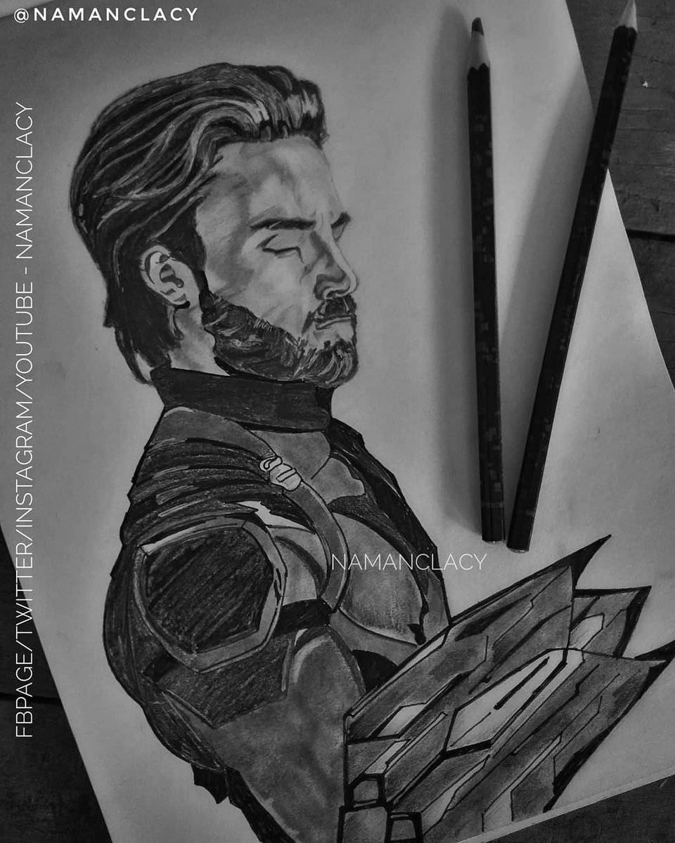 Namanclacy on twitter pencil sketch of chrisevans as captain