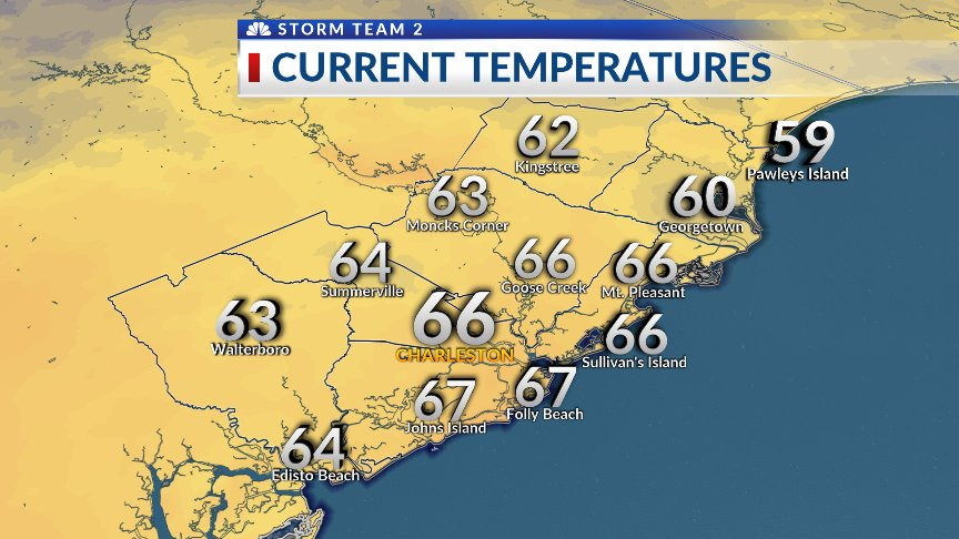 5 AM temps are in the upper 50s to the m...