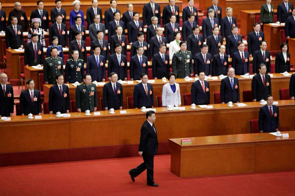 China propaganda kicks into overdrive as 'helmsman' Xi re-anointed president https://t.co/kxd3Sx4NHH https://t.co/H08xvw9imW