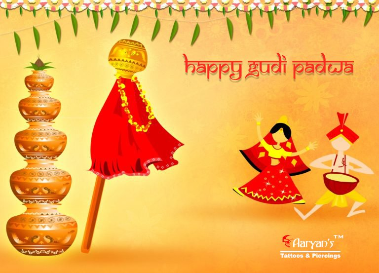 db58a55ca Aaryan Tattooist Happy Gudi Padwa to all our Marathi, Sindhi, Telugu,  Kannada Friends and Followers..! Happiest Year Ahead.