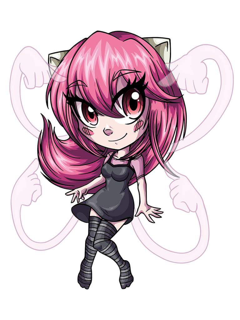 Lucy From Elfen Lied Fun Commission Asked By XMiyuka For His Twitch Channel If You Like Gaming Streams Follow Him Great Fornite Player Tho Chibi