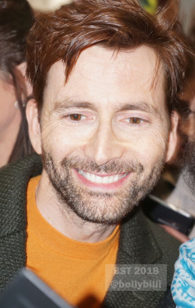 David Tennant at the 2018 Festival Of Ideas in Kirkcaldy on 18th March 2018 - photo by bollybilli on Twitter