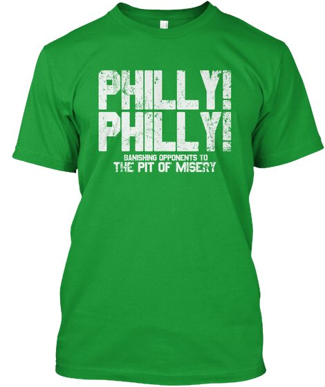 Ran into a dude wearing this T-shirt tonight and I was happy to learn that he was an 'authentic fan' and not just wearing it because it was green on St Patrick's day.   I was so excited I said 'go birds' and he said 'go birds' back and then we fist bumped.
