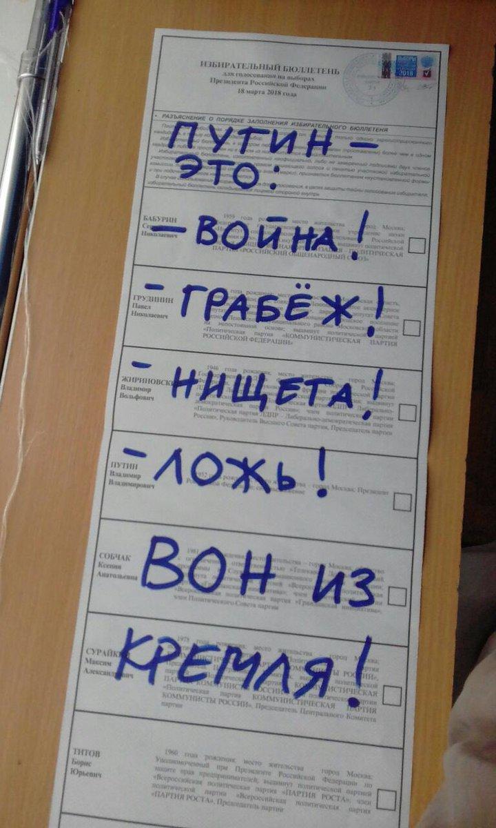 Путін не поїхав до окупованого Криму голосувати на виборах президента РФ, віддав свій голос у Москві - Цензор.НЕТ 5494