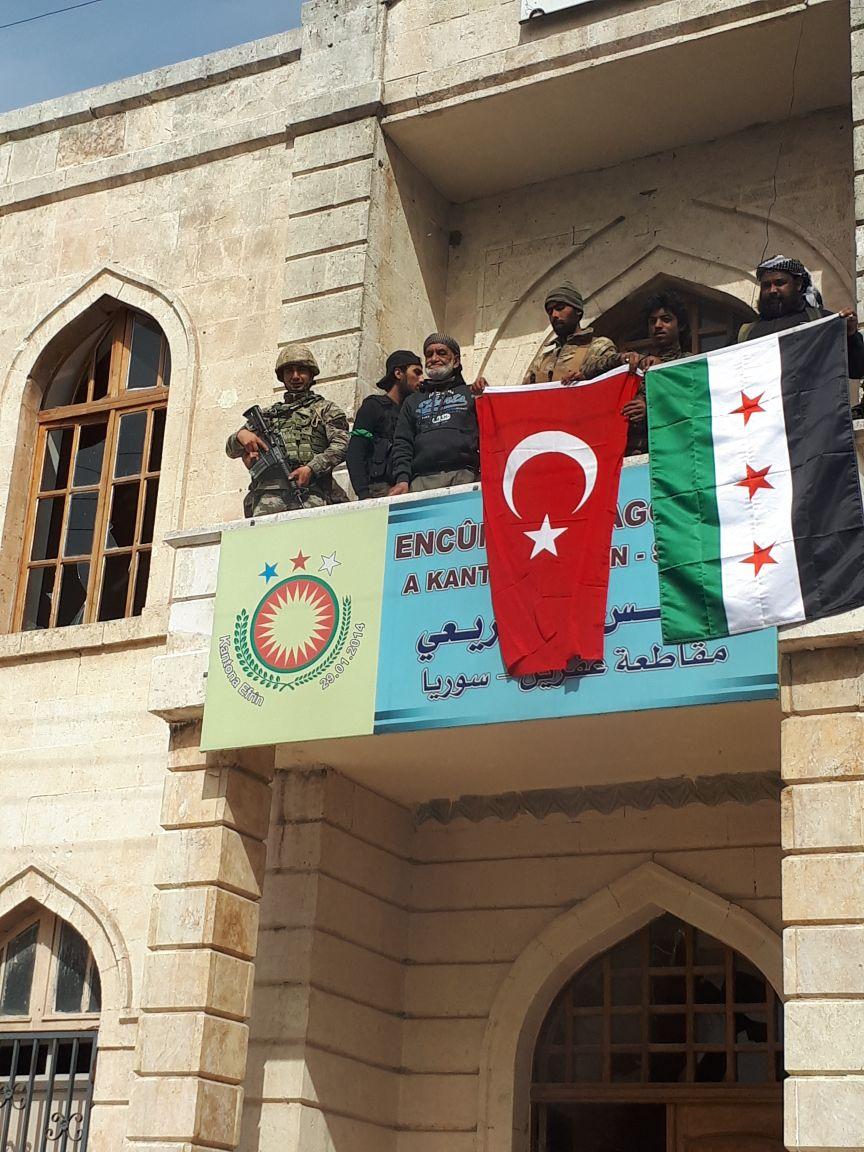 Afrin şehir merkezinden görüntüler. http...