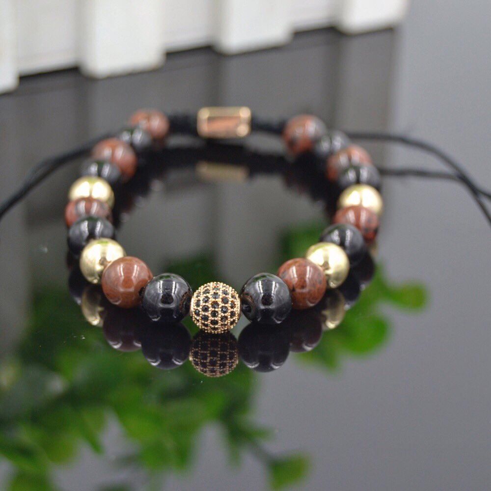 bracelet leather mens pin woven jasper masculine gray double wrap