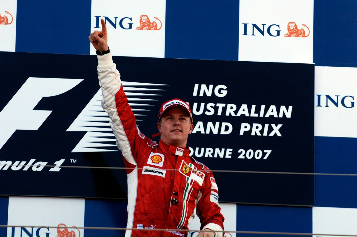 OTD: Kimi Räikkönen won his Ferrari debut race in Melbourne