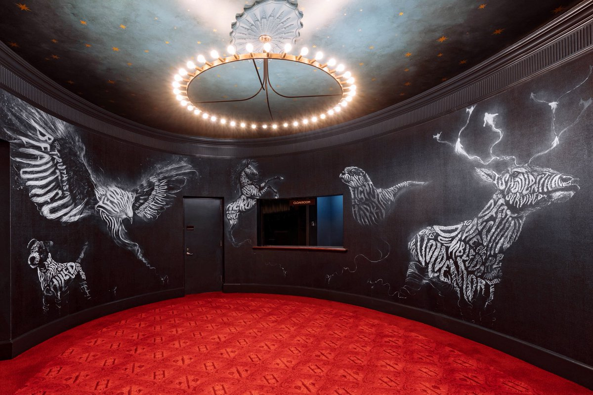 Expecto Patronum! Here's a sneak peek at the Lyric Theatre's amazing Patronus mural by artist Peter Strain.