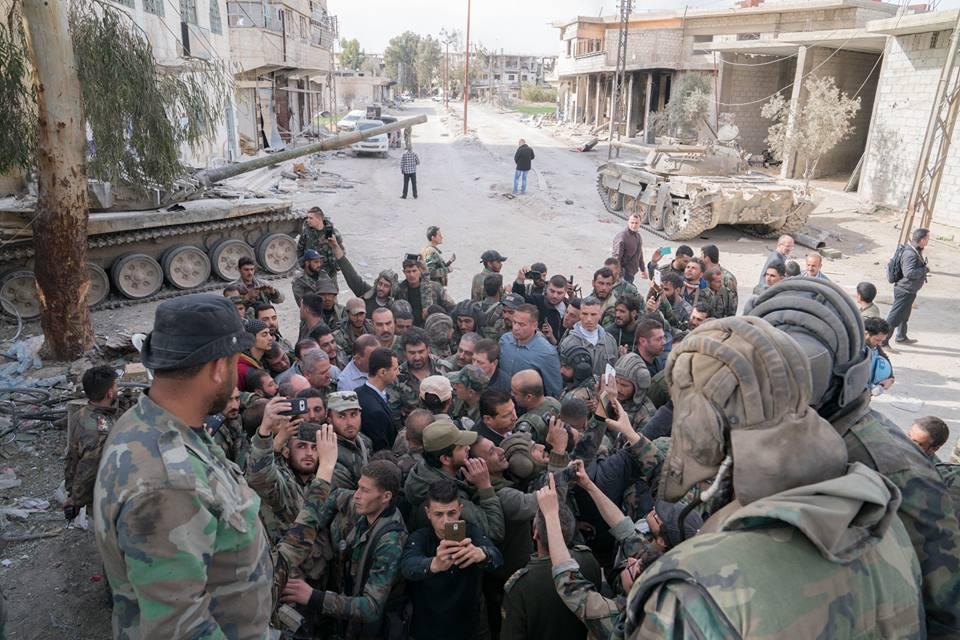 Асад на фронте