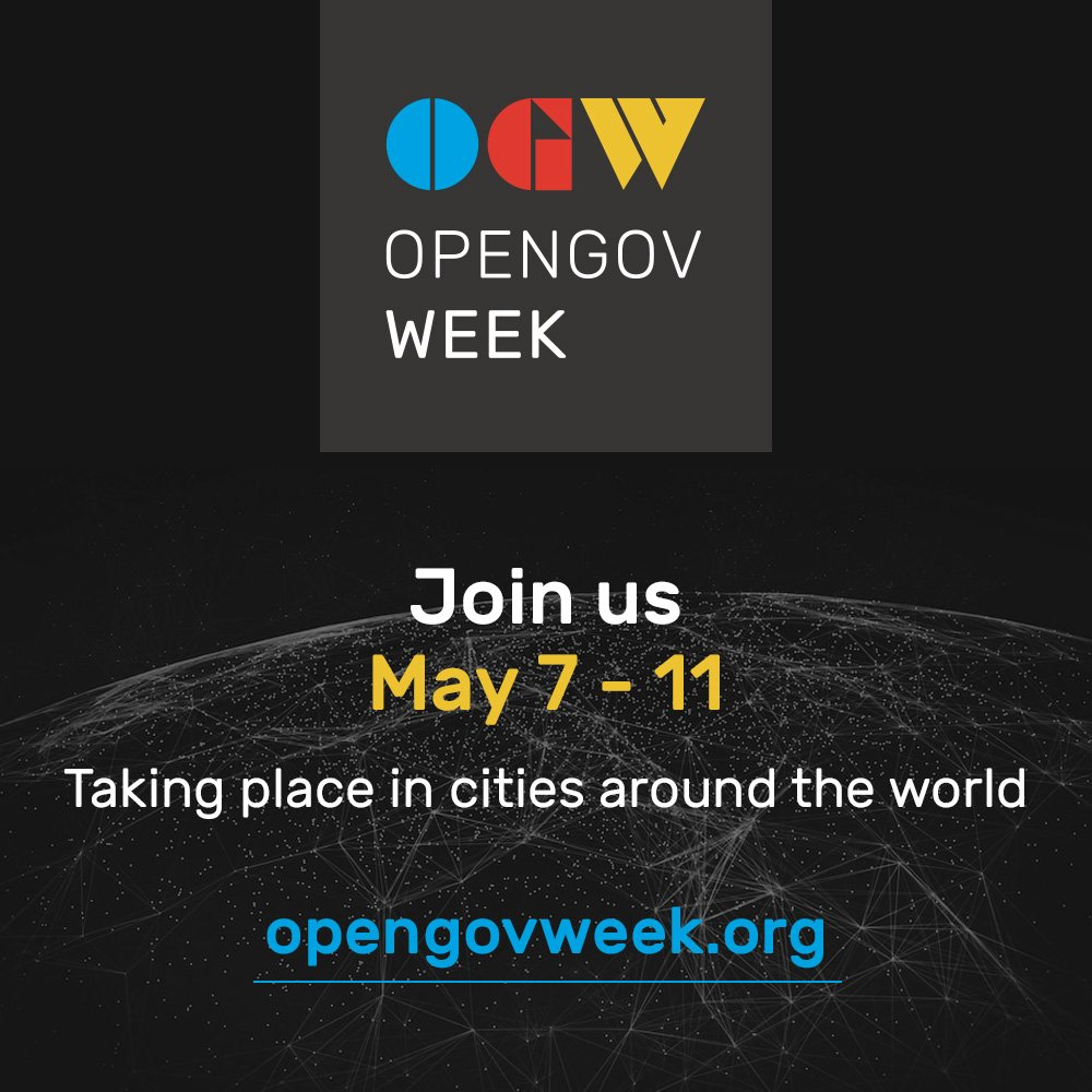 Join us this May 7-11 for #OpenGovWeek, a time for reformers in government and civil society in countries and cities all over the world to come together to transform the way governments serve their citizens. More info coming soon! #OpenGov #RenewTrust https://t.co/egP6RvkKeU