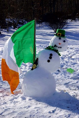 Happy St. Paddy's Day   #sneachta #snow...