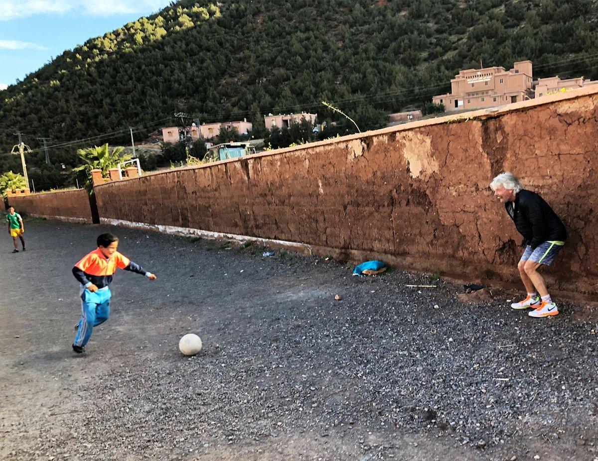 @richardbranson Playing football in #Mor...