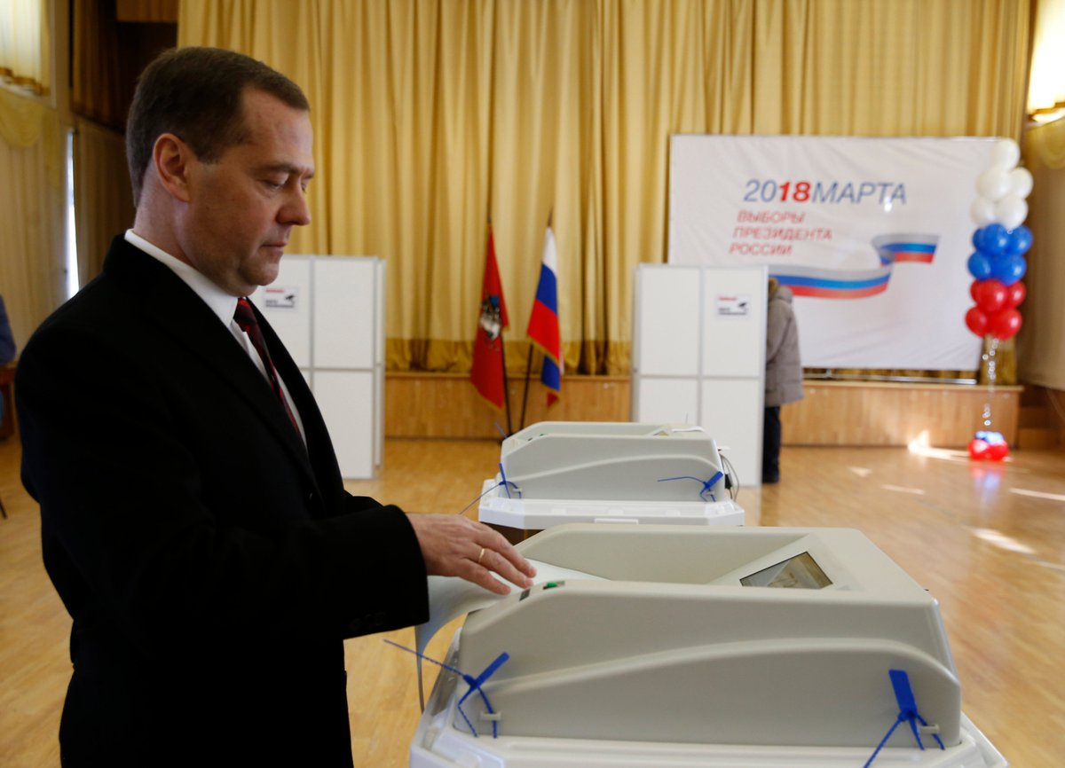 At the Russian presidential election