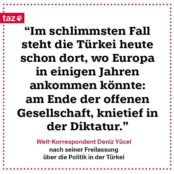 .@Besser_Deniz Yücel im Interview mit der taz und der @welt: https://t.co/ast5Z2DaMY