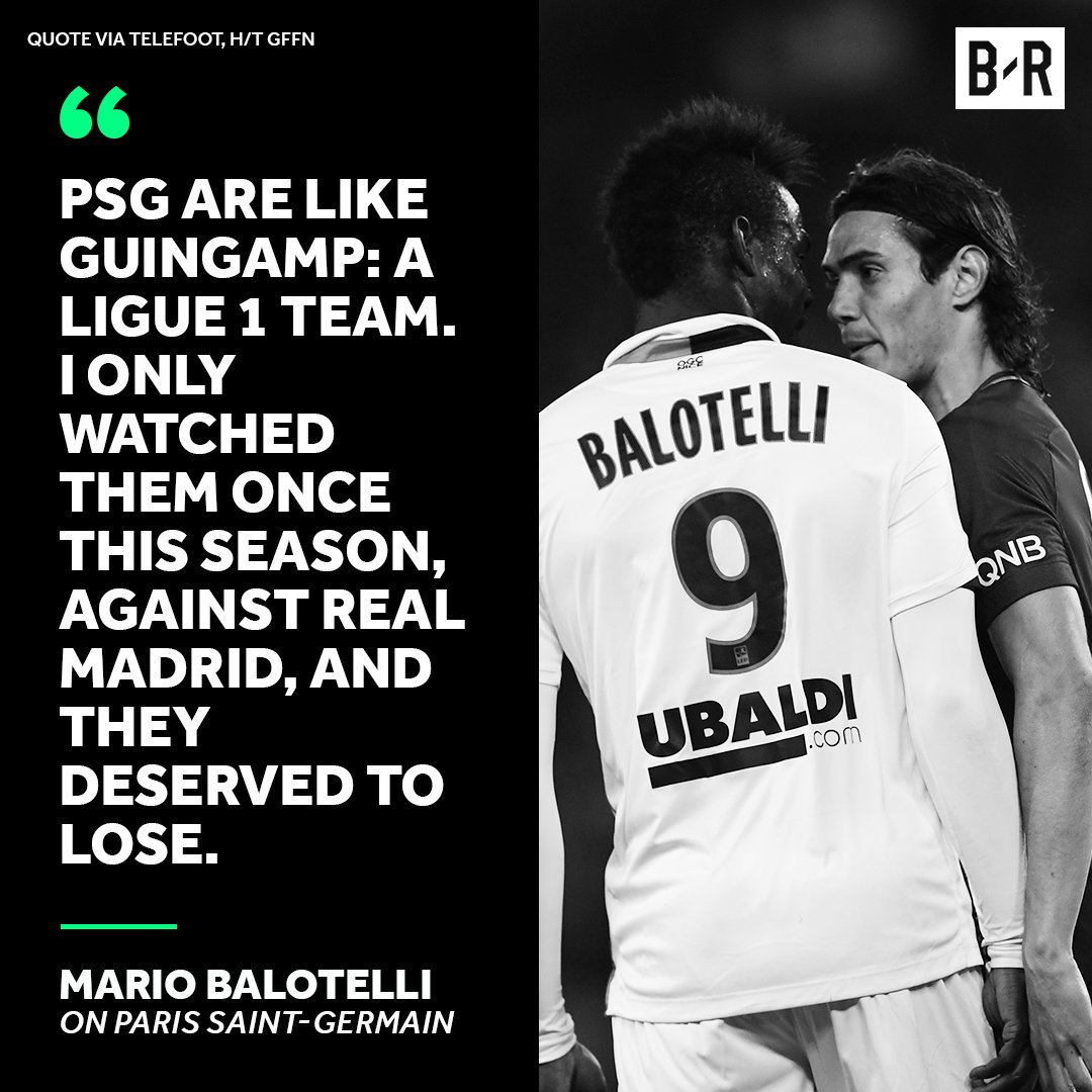 "Balotelli on PSG: ""Money lets you buy big players, not a team"""
