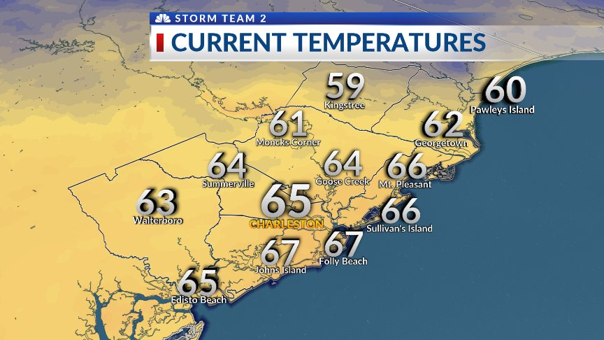 7 AM temps are in the upper 50s to the m...