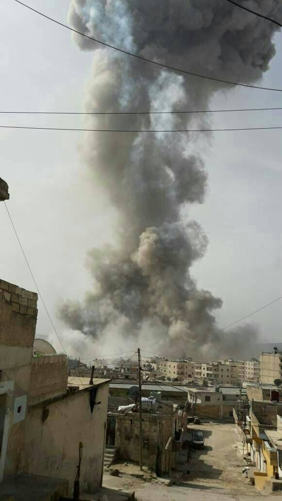 FSA detonated a trapped ammunition depot in Afrin city, no casualties.