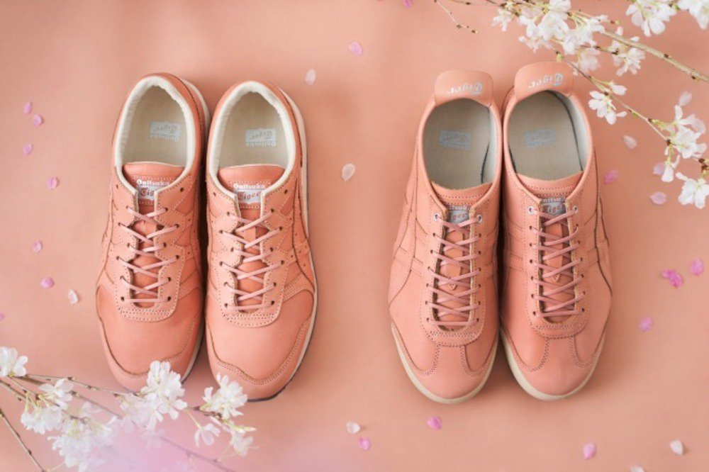 オニツカタイガーから、天然桜で染めた淡いピンクレザーのスニーカー - https://t.co/ajw3GbrQHI