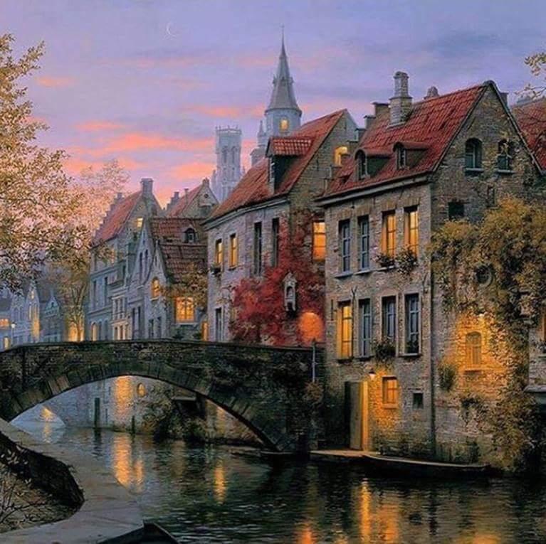 Bruges, Belgium by Evgeny Lushpin #europ...