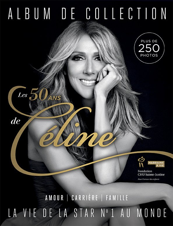 #7Jours to celebrate #CélineDion's 50th birthday with a special limited edition of the most beautiful pics of the Canadian Superstar which will benefit the @fondstejustine!😍 https://t.co/0vBRnNkang