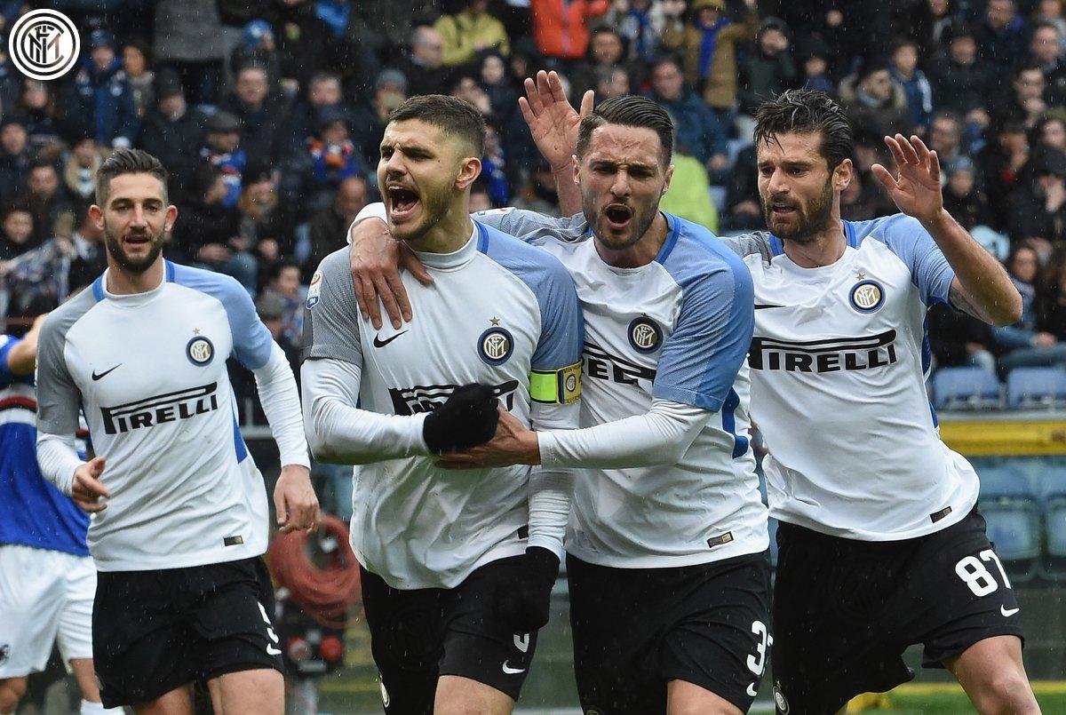 Gol ini menjadi gol ke-1⃣0⃣0⃣ @MauroIcar...