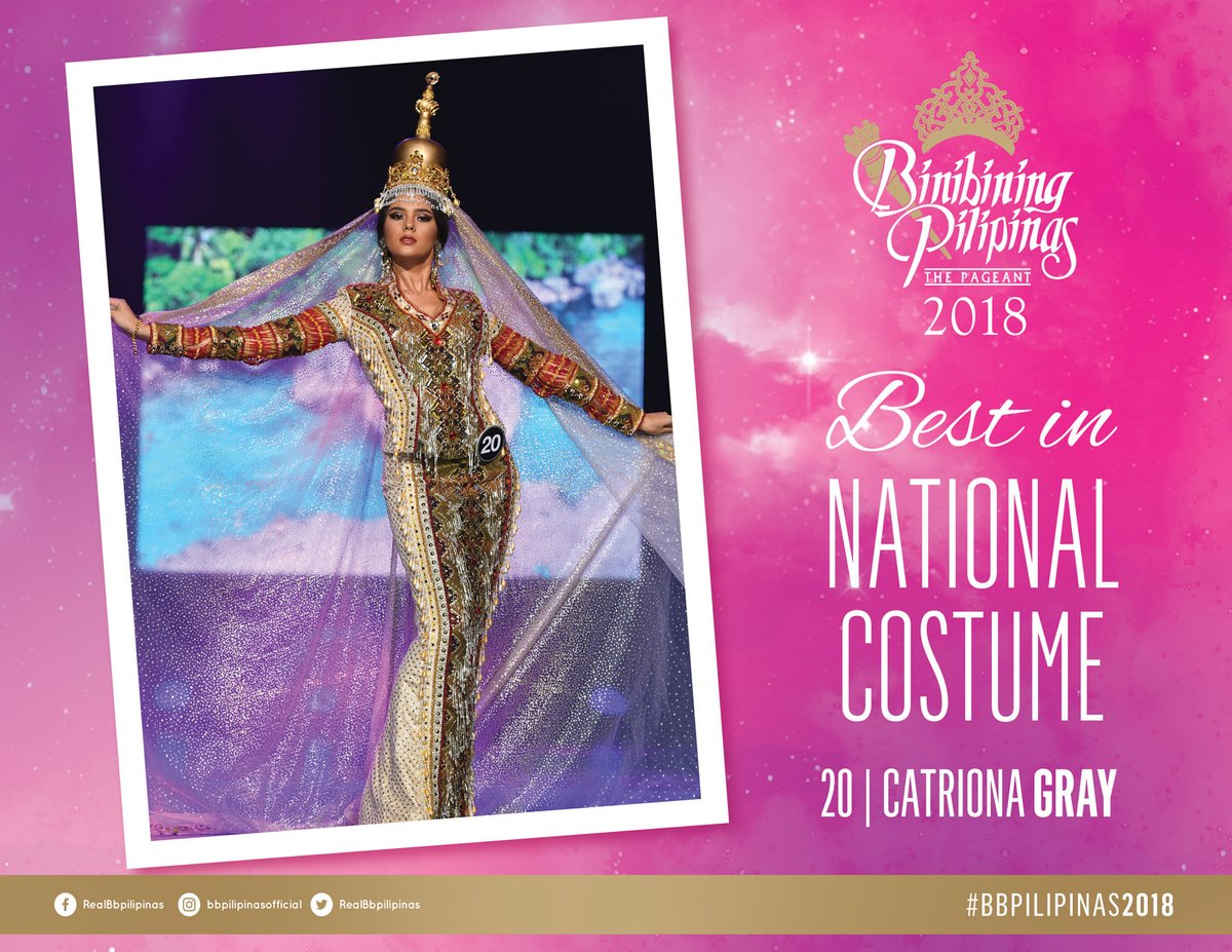 @PiaWurtzbach @shiereyes Pitoy Moreno Best in National Costume Award - 20 Catriona Gray #BbPilipinas2018  | vi @RealBbPilipinasa  https://t.co/5O8WxpkoUt