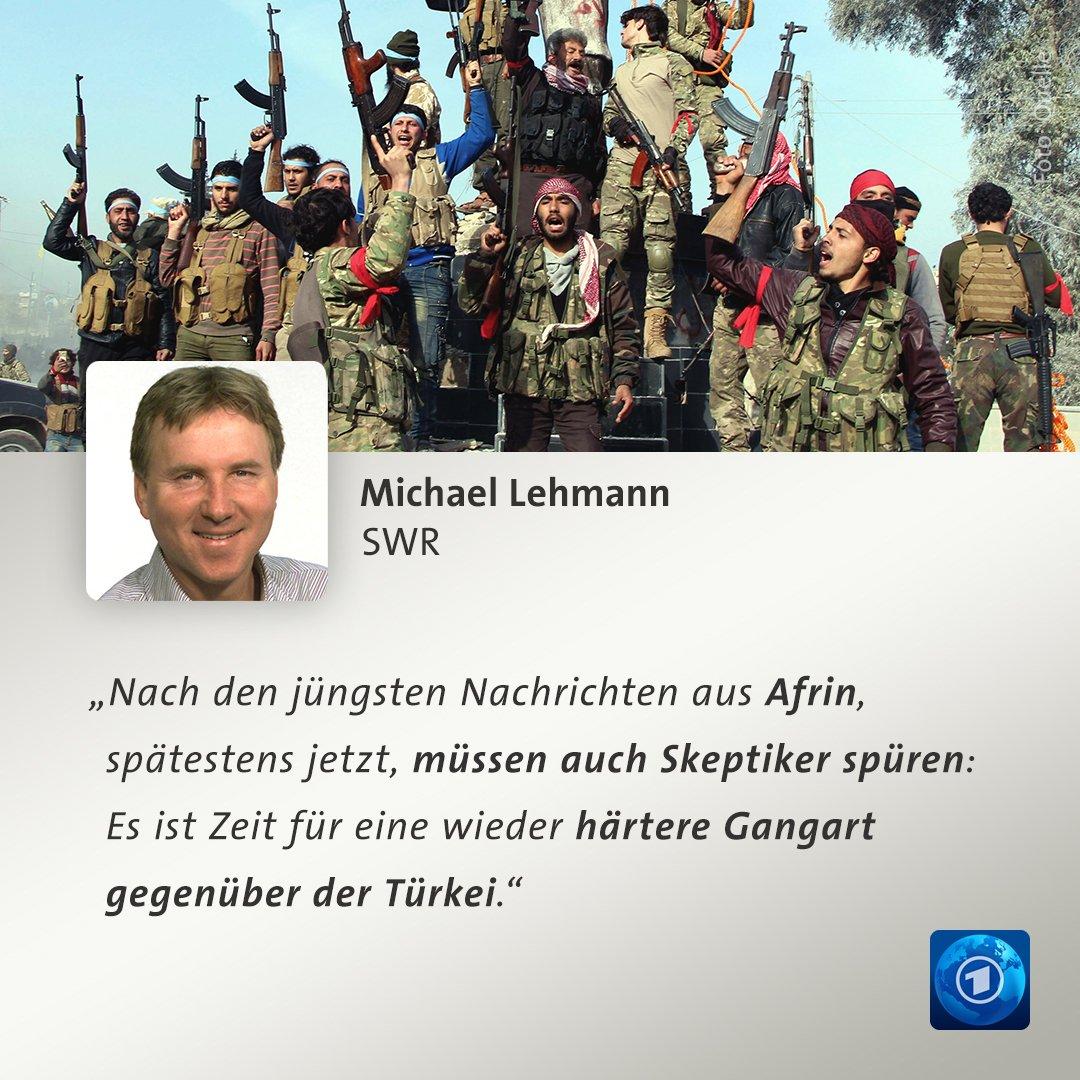"""""""Die NATO, auch Deutschland, muss Erdogan Einhalt gebieten"""", kommentiert Michael Lehmann die Lage in #Afrin."""