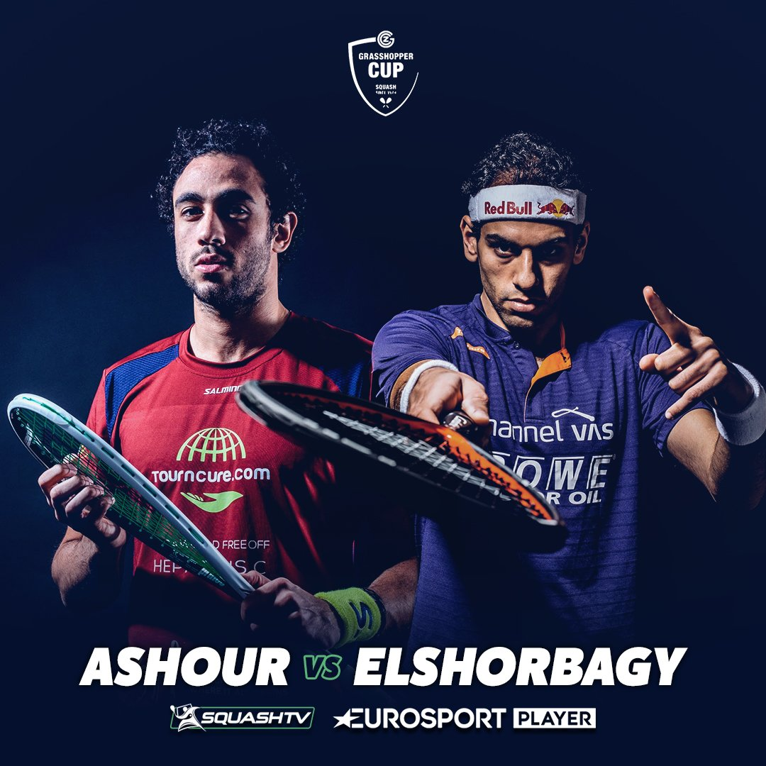 test Twitter Media - IT'S TIME!!   @RamyAshour v @MoElshorbagy   The @grasshopper_cup final  Get @SquashTV & @Eurosport Player on now   It could be epic!! https://t.co/gTz09UUhbb