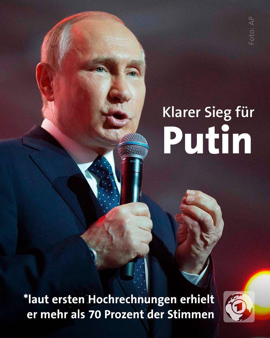 Wie erwartet zeichnet sich bei der Präsidentschaftswahl in #Russland ein deutlicher Sieg von Amtsinhaber #Putin ab.