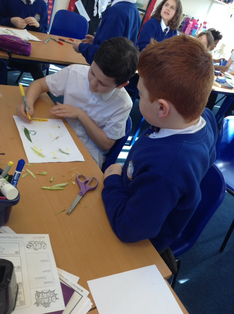 Year 5 busy dissecting plants to understand how they reproduce #science #livingthingsandhabitats