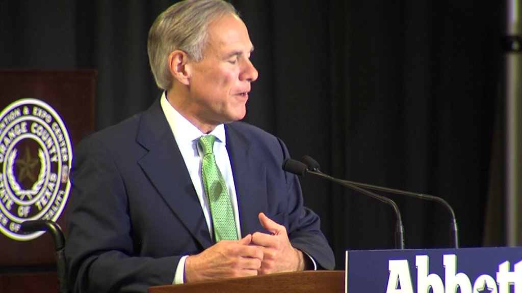 Governor Greg Abbott speaks at Orange County Republican Party event https://t.co/rOQg9Ley0o