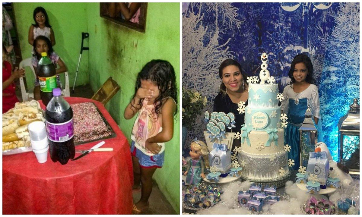 > Me@Emais_Estadaonina que se emocionou ao ganhar bolo de aniversário ganha festa com o tema 'Frozen' https://t.co/9jQf9J3nW5