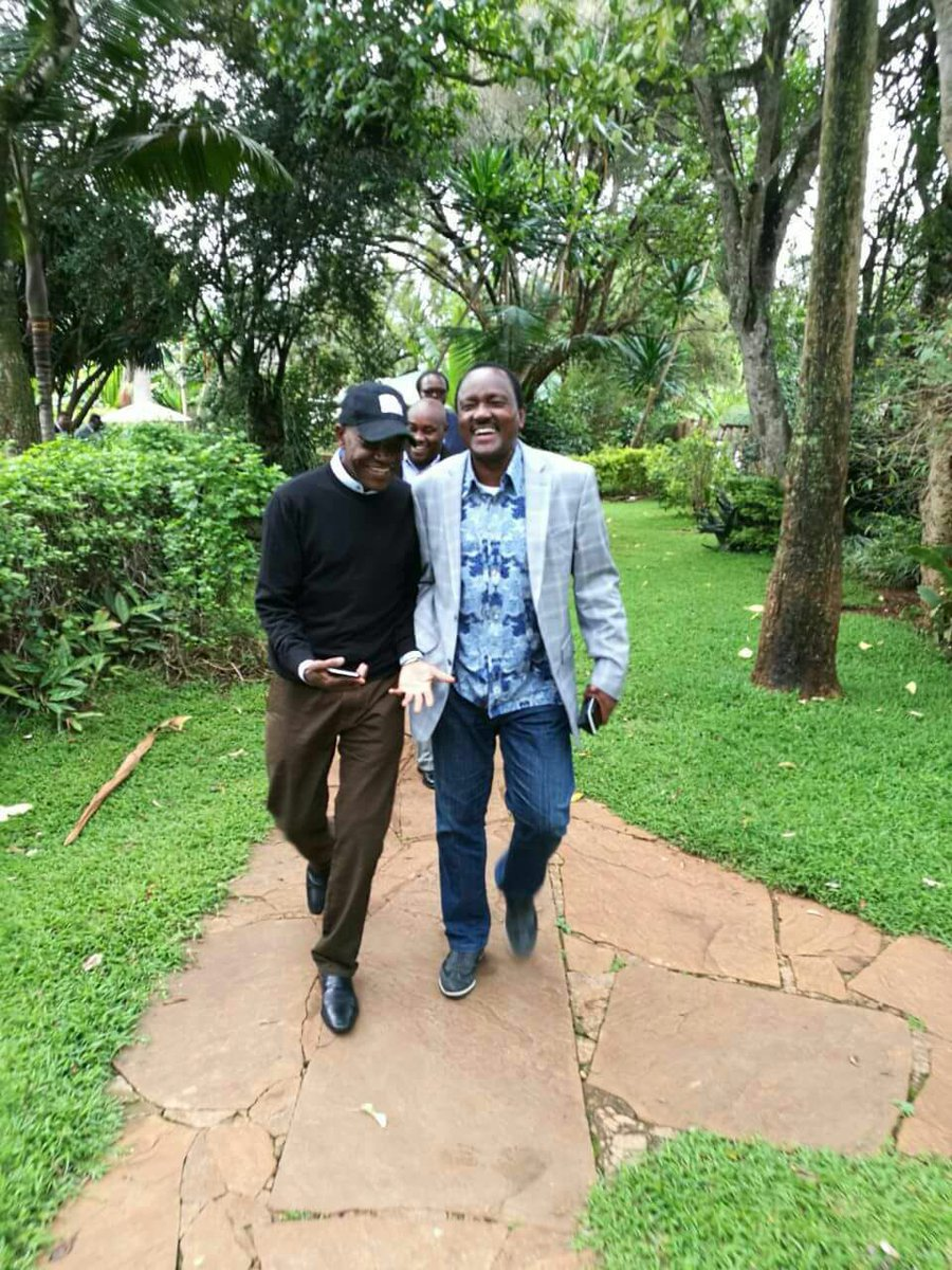 This man @skmusyoka! The most insulted (by @TheODMparty) leader alive! Give it to him, he ran for president in 2007 & got a cool 1 million votes plus. The former VP has twice (2013 & 2017) supported our brother @RailaOdinga. Not a mean thing. Man, I celebrate u!