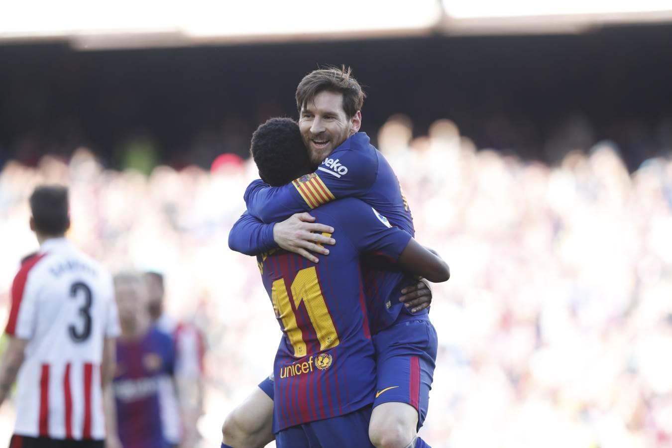 �� Assistència de @Dembouz i gol de #Messi �� �� #ForçaBarça ���� #BarçaAthletic https://t.co/RHCNgYm6lb