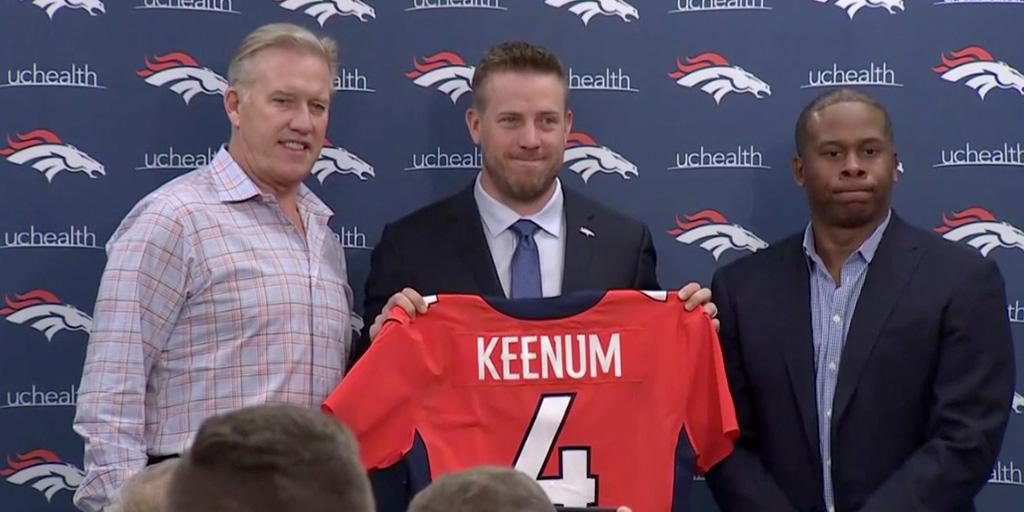 'We got our guy.'   And @johnelway couldn't be happier about it: https://t.co/pYwEjMhL8c https://t.co/wx9jIYwDhM